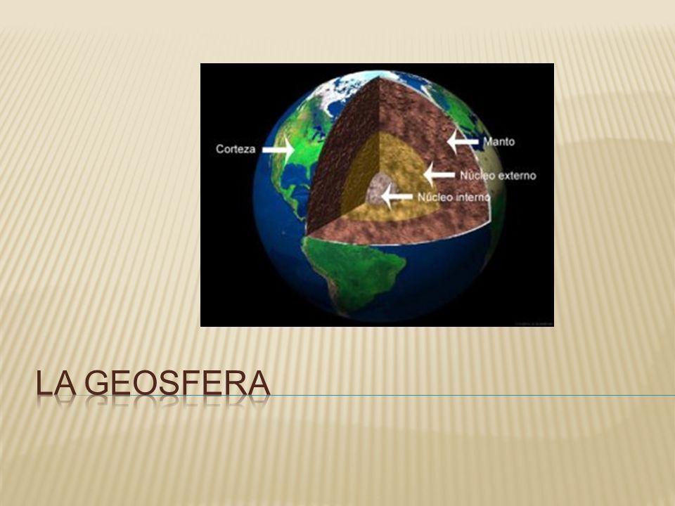 Se trata de un sistema terrestre de estructura rocosa que sirve de soporte base al resto de sistemas: atmosfera, hidrosfera y biosfera, situados sobre su parte superficial.