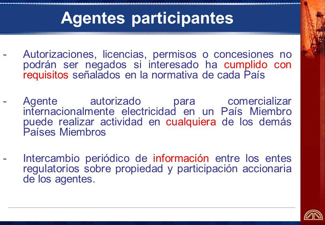 Agentes participantes -Autorizaciones, licencias, permisos o concesiones no podrán ser negados si interesado ha cumplido con requisitos señalados en l