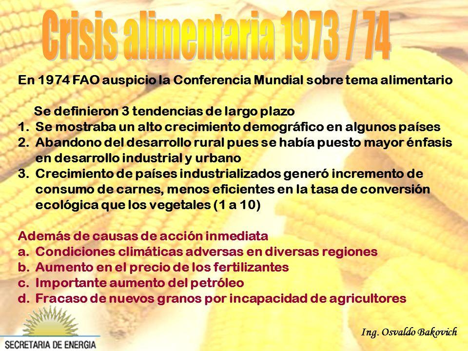Jacques Diouf, Director general de FAO, refirió a las causas del alza de los precios de granos y recomendó aplicar medidas que permitan aumentar la oferta.