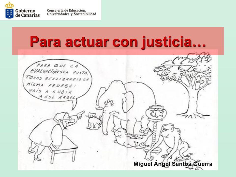 Miguel Ángel Santos Guerra Para actuar con justicia…