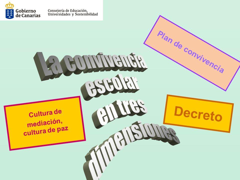 Decreto Plan de convivencia Cultura de mediación, cultura de paz