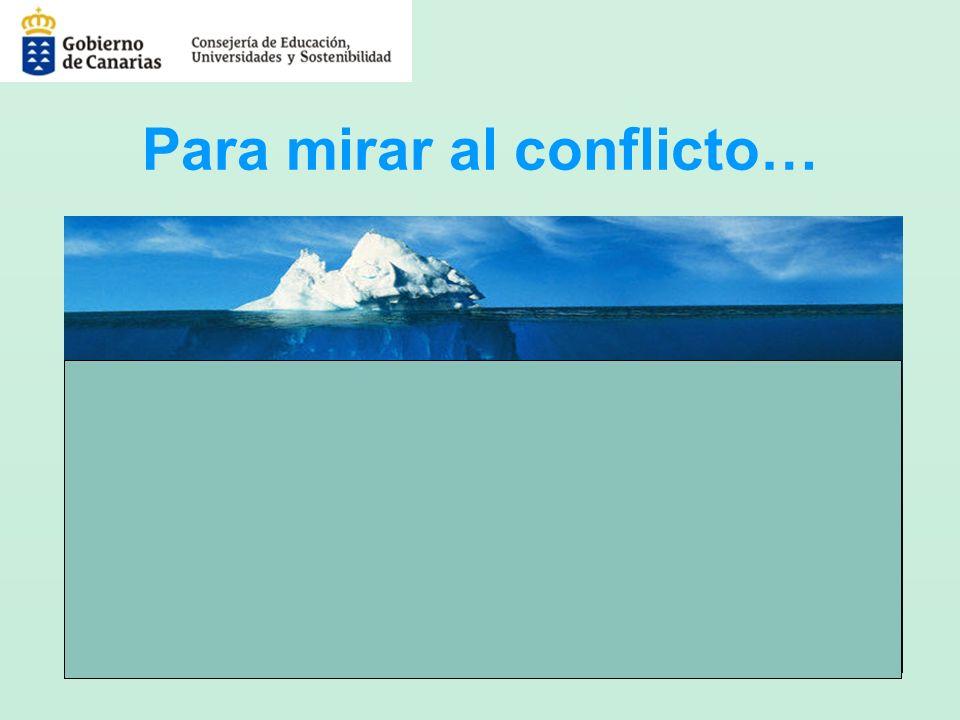 Para mirar al conflicto…