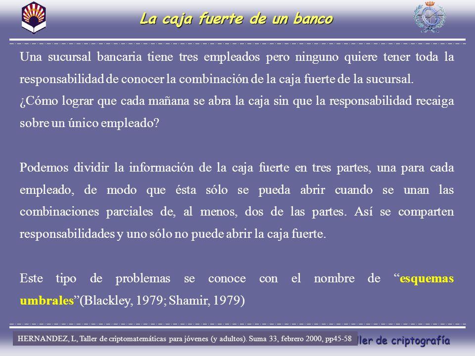 El arte de esconder.Taller de criptografía X C FUSTER, A.; DE lA GUIA, D.; HERNANDEZ,L; MUÑOZ, J.