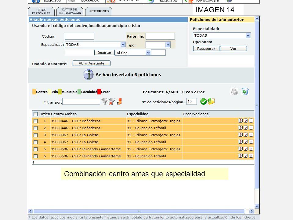 Combinación centro antes que especialidad IMAGEN 14