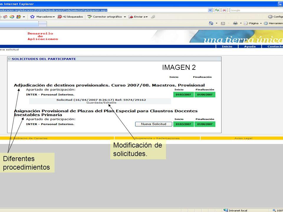 Gestión Integrada del Personal Docente (GIPD) Marcar esta opción ahorra peticiones de las habituales IMAGEN 10