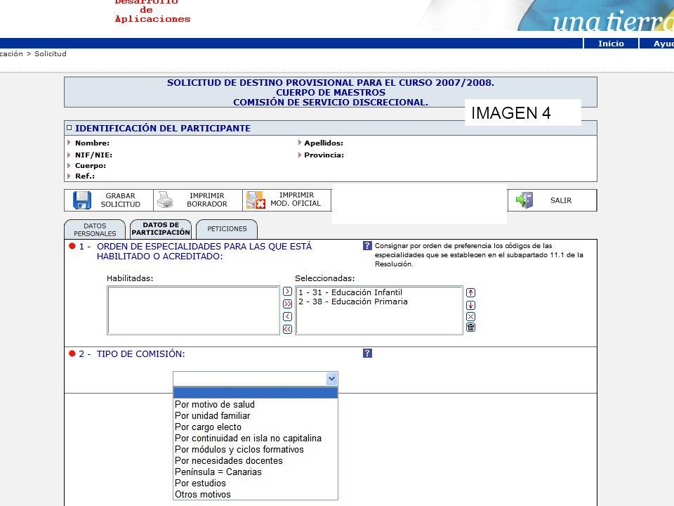 Determinar criterios de búsqueda Si se desea se pueden buscar ámbitos IMAGEN 12