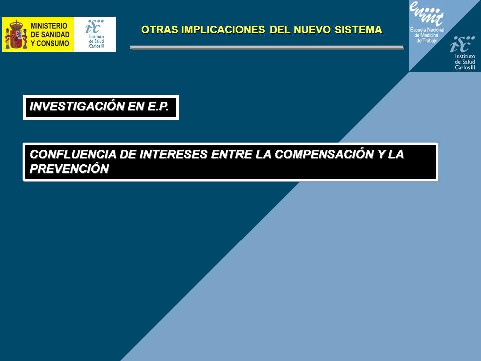 CONFLUENCIA DE INTERESES ENTRE LA COMPENSACIÓN Y LA PREVENCIÓN OTRAS IMPLICACIONES DEL NUEVO SISTEMA INVESTIGACIÓN EN E.P.