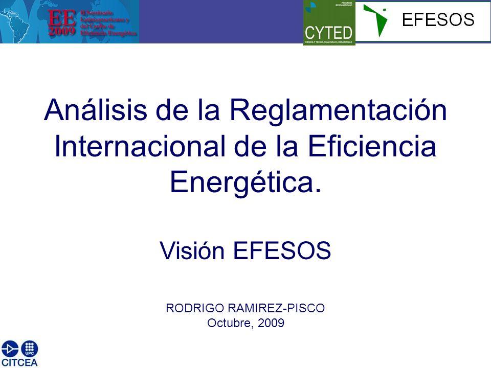 Análisis de la Reglamentación Internacional de la Eficiencia Energética.