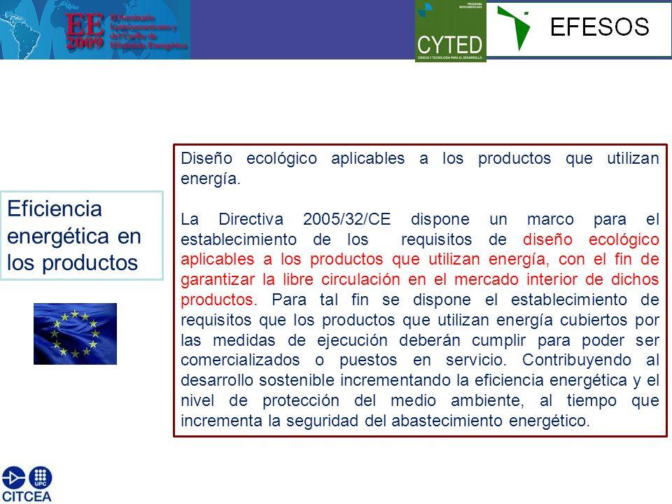 Diseño ecológico aplicables a los productos que utilizan energía.