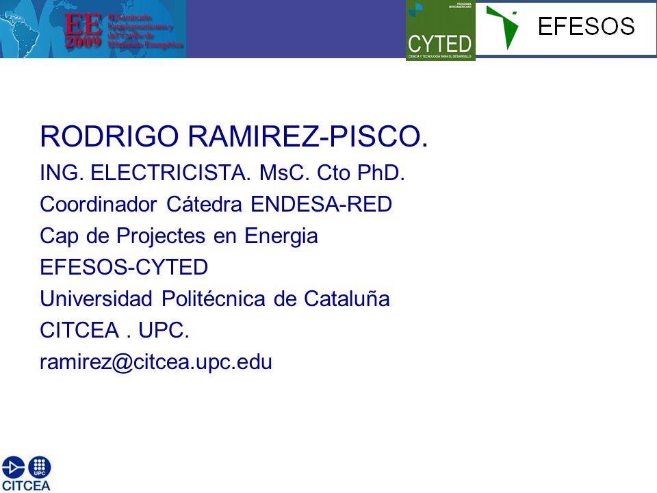 RODRIGO RAMIREZ-PISCO. ING. ELECTRICISTA. MsC. Cto PhD.