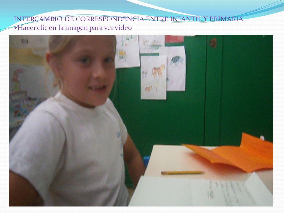 INTERCAMBIO DE CORRESPONDENCIA ENTRE INFANTIL Y PRIMARIA Hacer clic en la imagen para ver video