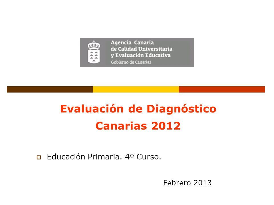 Evaluación de Diagnóstico Canarias 2012 Educación Primaria. 4º Curso. Febrero 2013