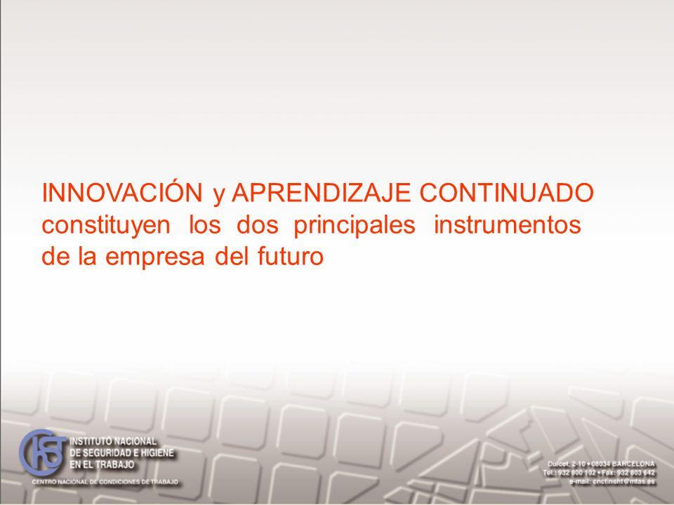 INNOVACIÓN y APRENDIZAJE CONTINUADO constituyen los dos principales instrumentos de la empresa del futuro