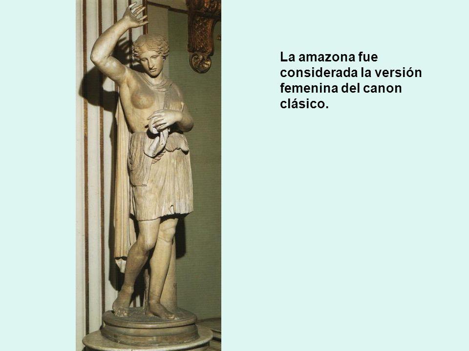 La amazona fue considerada la versión femenina del canon clásico.