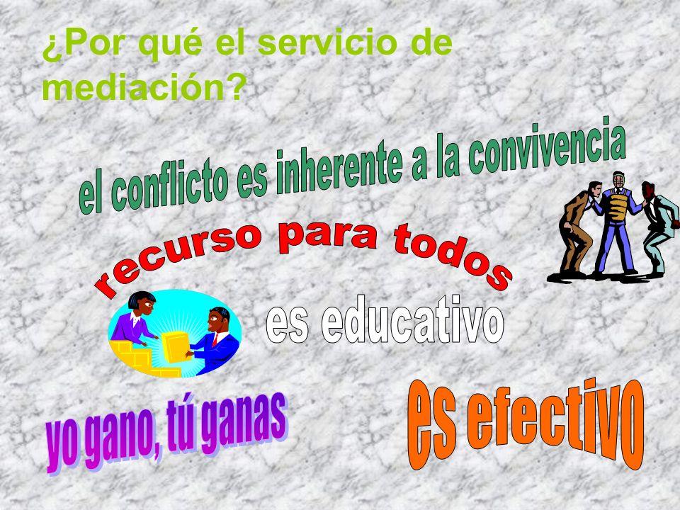 ¿Por qué el servicio de mediación?