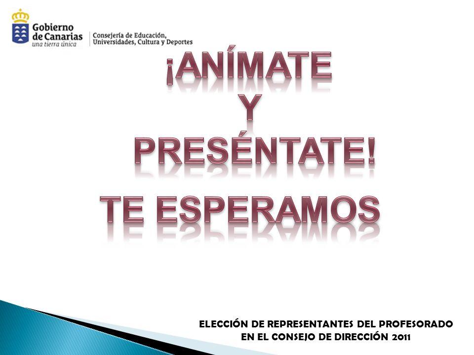ELECCIÓN DE REPRESENTANTES DEL PROFESORADO EN EL CONSEJO DE DIRECCIÓN 2011