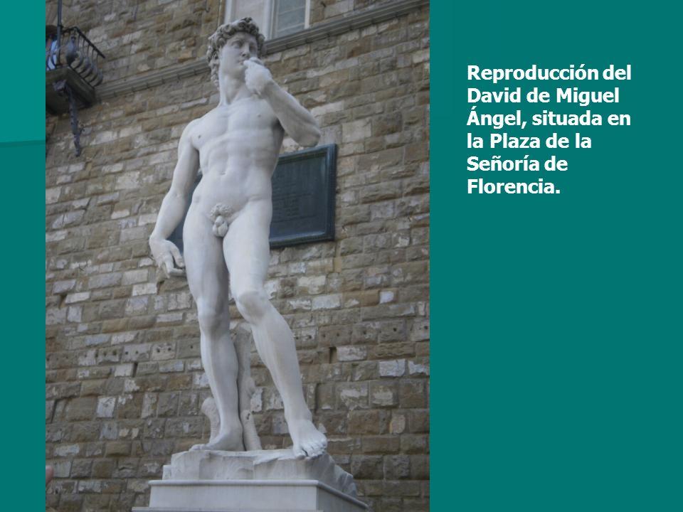 Reproducción del David de Miguel Ángel, situada en la Plaza de la Señoría de Florencia.