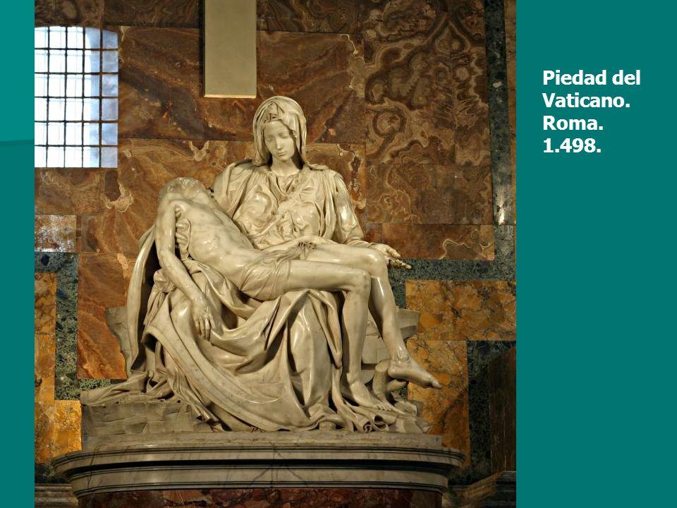 Piedad del Vaticano. Roma. 1.498.