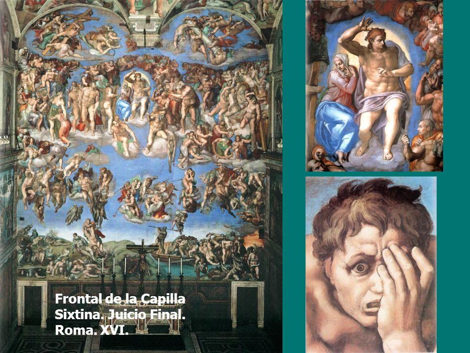Frontal de la Capilla Sixtina. Juicio Final. Roma. XVI.