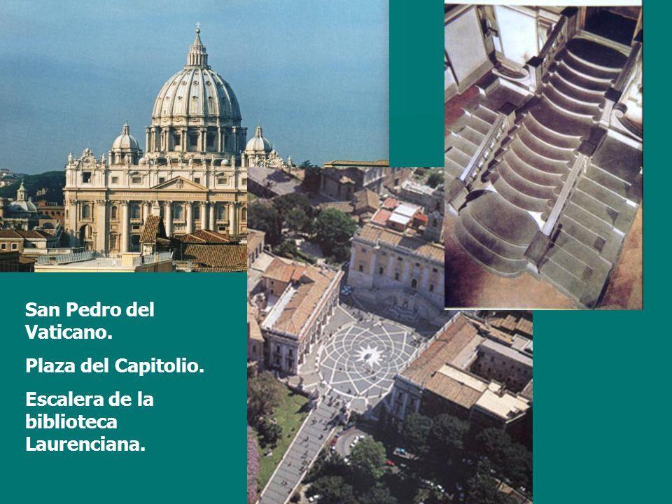 San Pedro del Vaticano. Plaza del Capitolio. Escalera de la biblioteca Laurenciana.