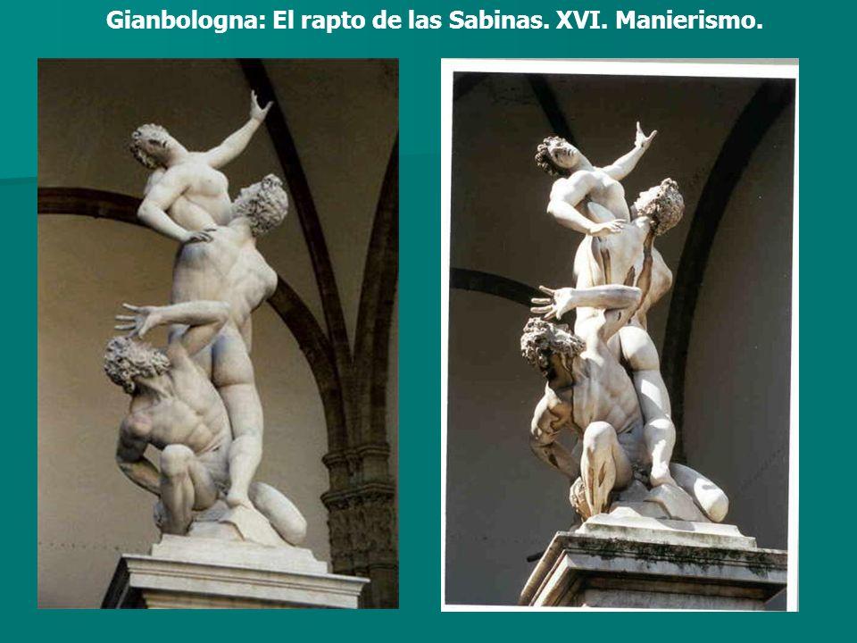 Gianbologna: El rapto de las Sabinas. XVI. Manierismo.