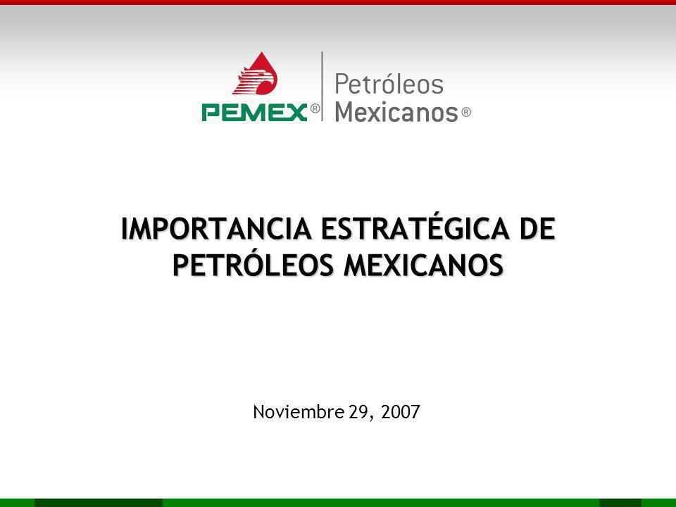 IMPORTANCIA ESTRATÉGICA DE PETRÓLEOS MEXICANOS Noviembre 29, 2007