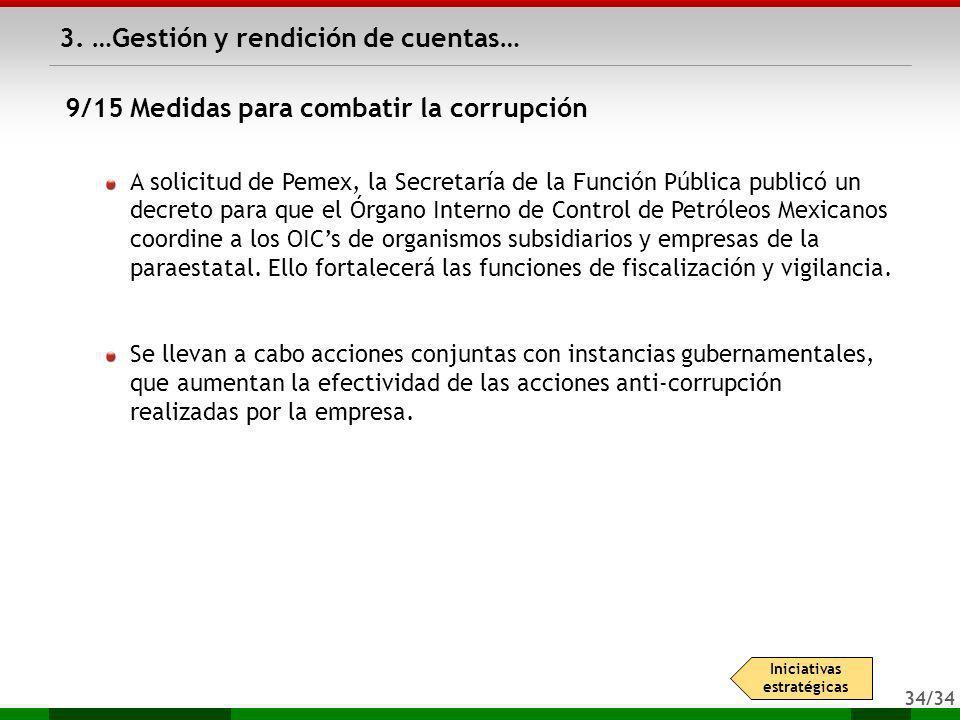 34/34 3. …Gestión y rendición de cuentas… A solicitud de Pemex, la Secretaría de la Función Pública publicó un decreto para que el Órgano Interno de C