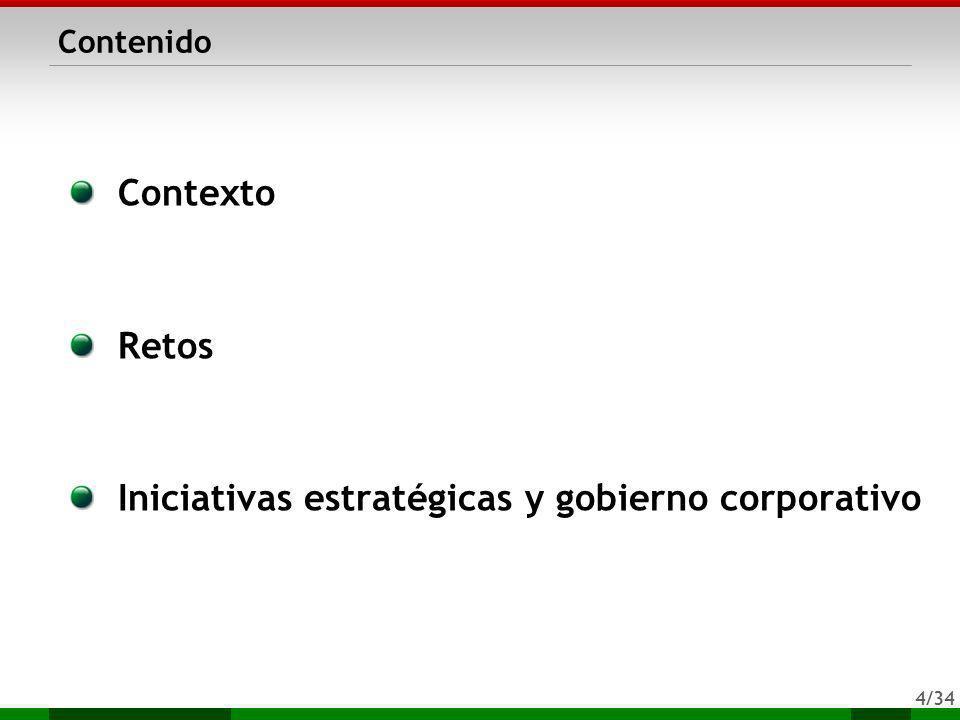 4/34 Contenido Contexto Retos Iniciativas estratégicas y gobierno corporativo