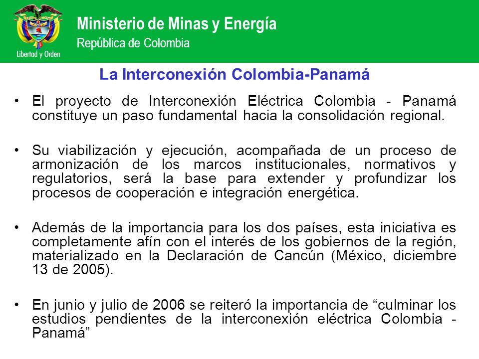 Ministerio de Minas y Energía República de Colombia La Interconexión Colombia-Panamá El proyecto de Interconexión Eléctrica Colombia - Panamá constitu