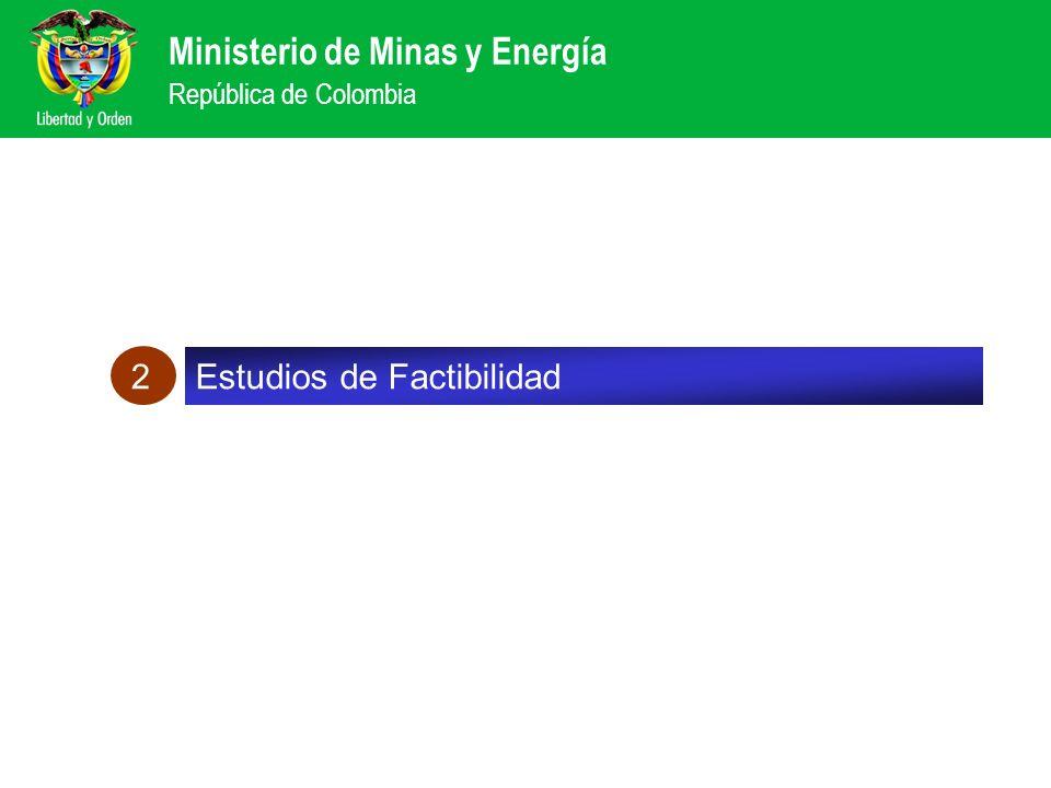 Ministerio de Minas y Energía República de Colombia Aquí van los datos de Colombia-Ecuador y los avances con Panamá Estudios de Factibilidad 2