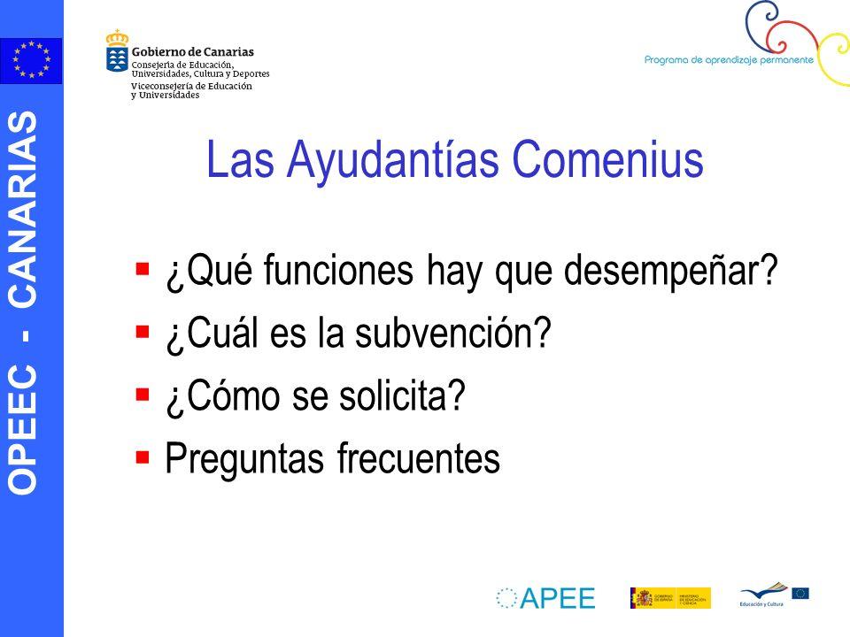 OPEEC - CANARIAS AYUDANTES COMENIUS (Video en local)