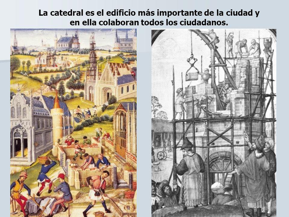 La catedral es el edificio más importante de la ciudad y en ella colaboran todos los ciudadanos.