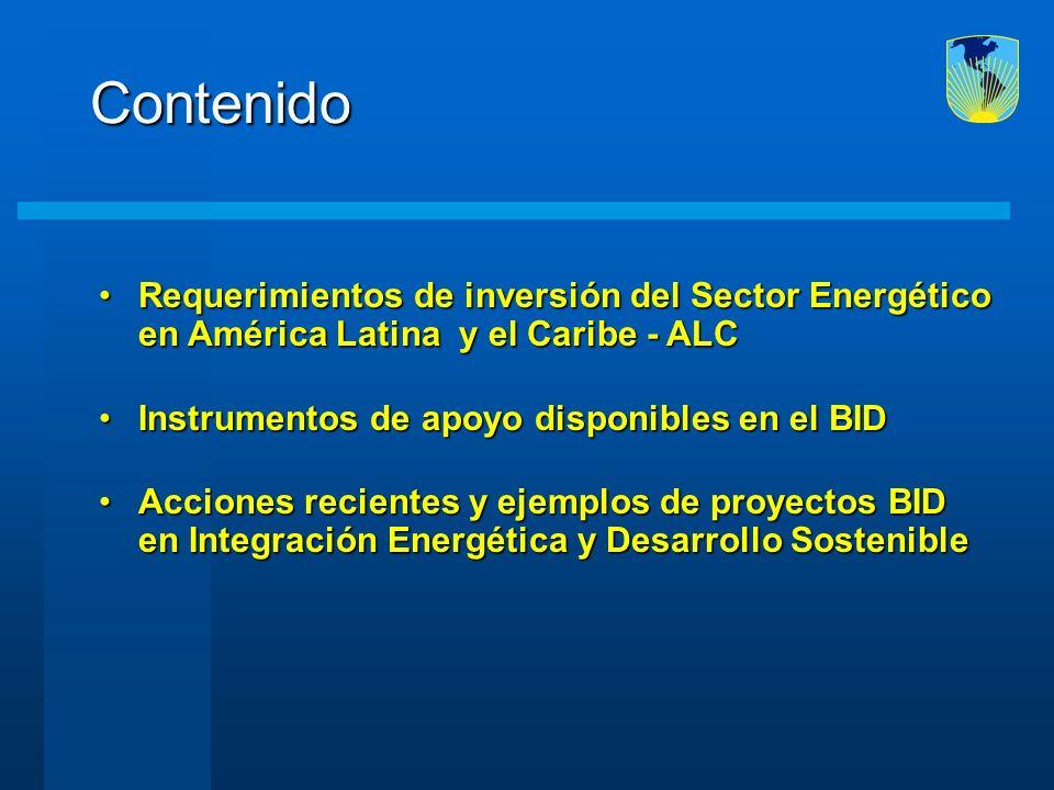 Contenido Requerimientos de inversión del Sector Energético en América Latina y el Caribe - ALCRequerimientos de inversión del Sector Energético en Am