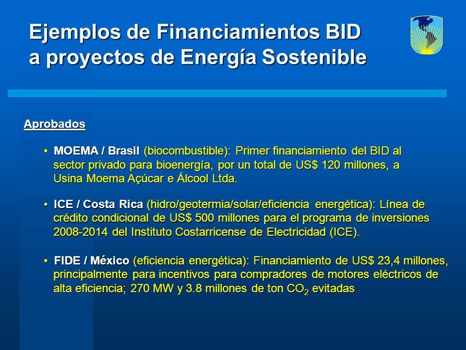 Aprobados Aprobados MOEMA / Brasil (biocombustible): Primer financiamiento del BID al MOEMA / Brasil (biocombustible): Primer financiamiento del BID a