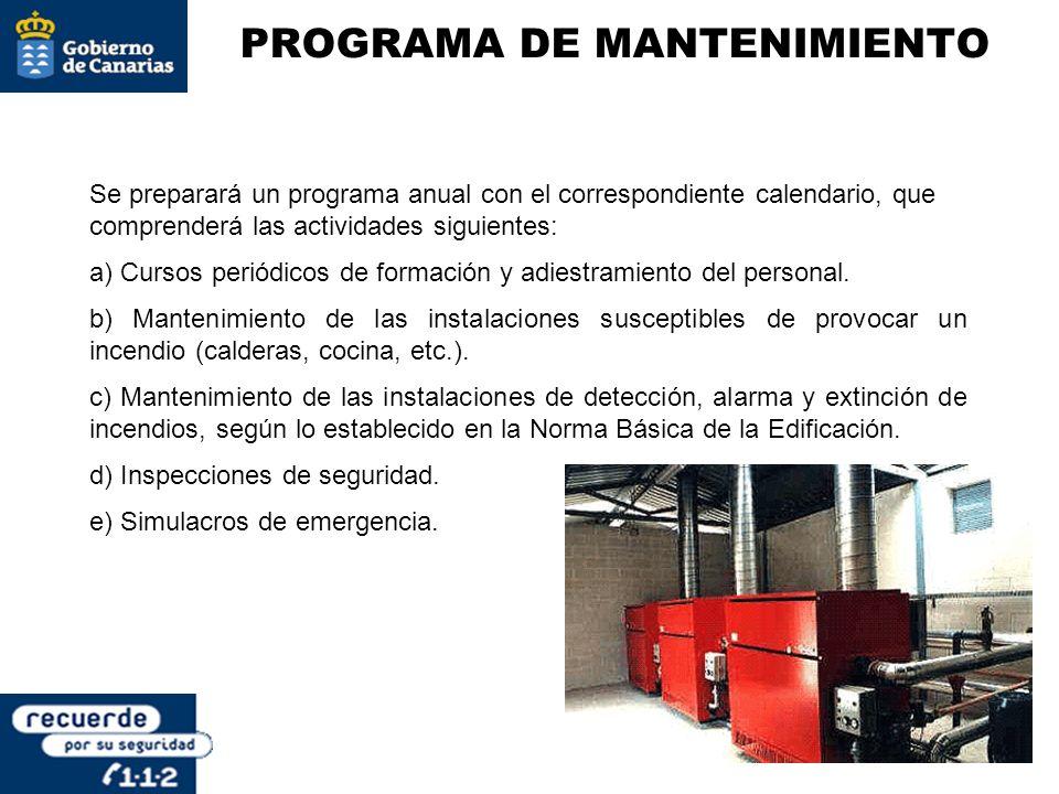 Se preparará un programa anual con el correspondiente calendario, que comprenderá las actividades siguientes: a) Cursos periódicos de formación y adie