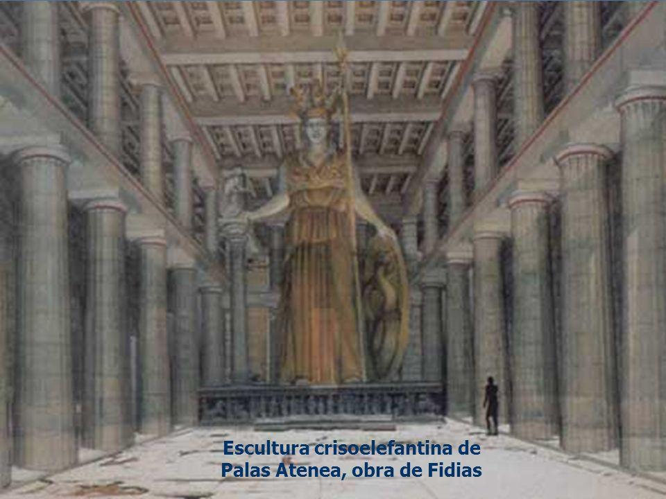 Escultura crisoelefantina de Palas Atenea, obra de Fidias