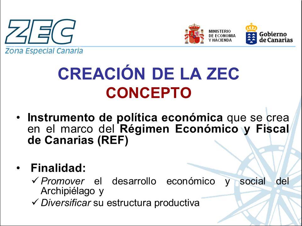 Instrumento de política económica que se crea en el marco del Régimen Económico y Fiscal de Canarias (REF) Finalidad: Promover el desarrollo económico