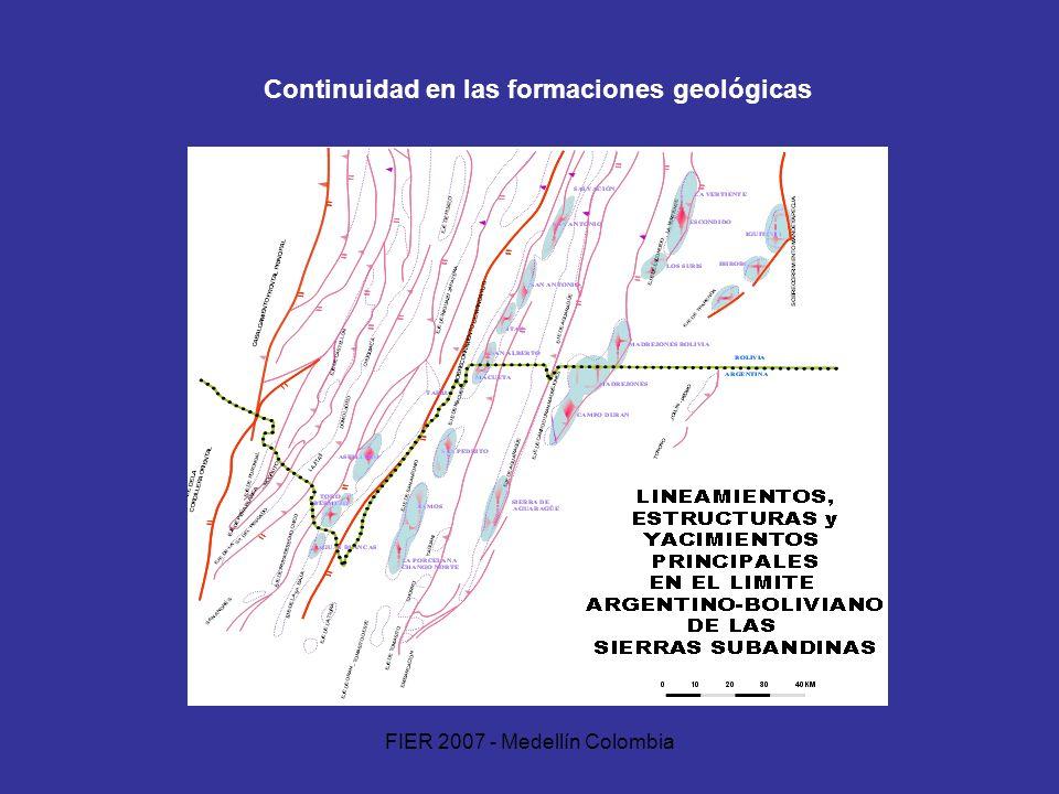 FIER 2007 - Medellín Colombia Continuidad en las formaciones geológicas