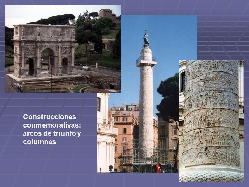 Construcciones conmemorativas: arcos de triunfo y columnas