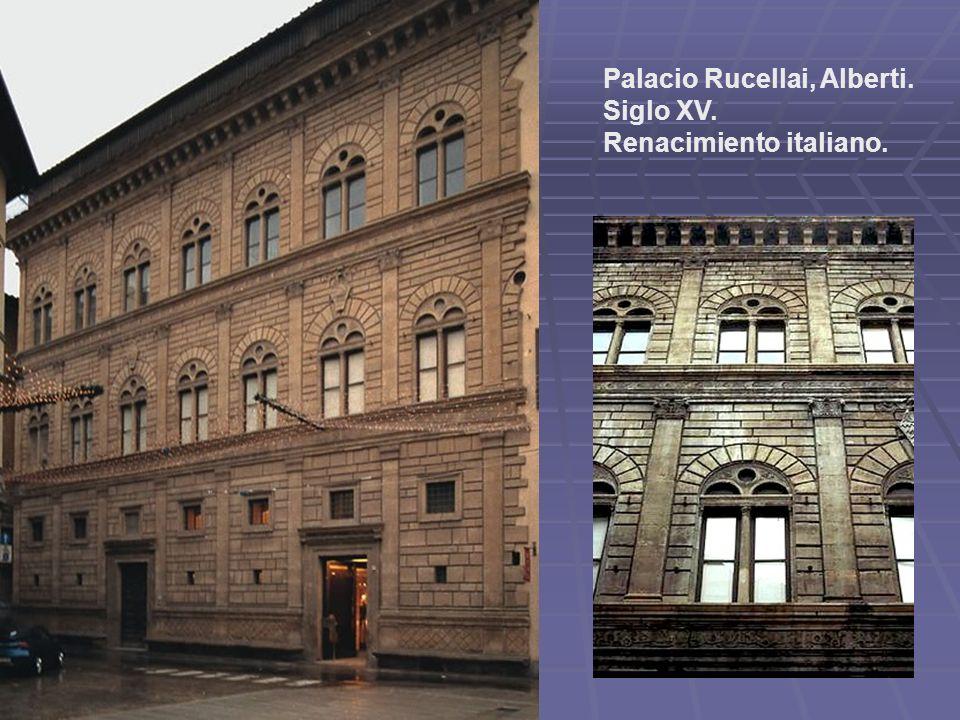 Palacio Rucellai, Alberti. Siglo XV. Renacimiento italiano.