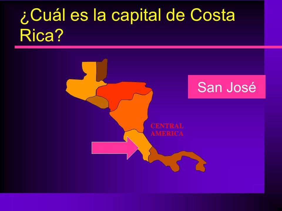 ¿Cuál es la capital de Costa Rica? San José