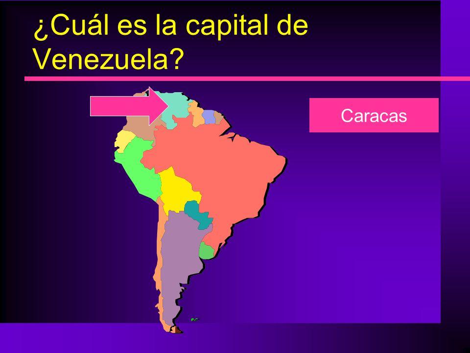 ¿Cuál es la capital de Venezuela? Caracas