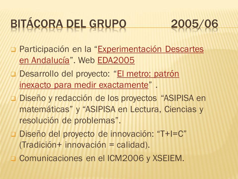 Participación en la Experimentación Descartes en Andalucía.