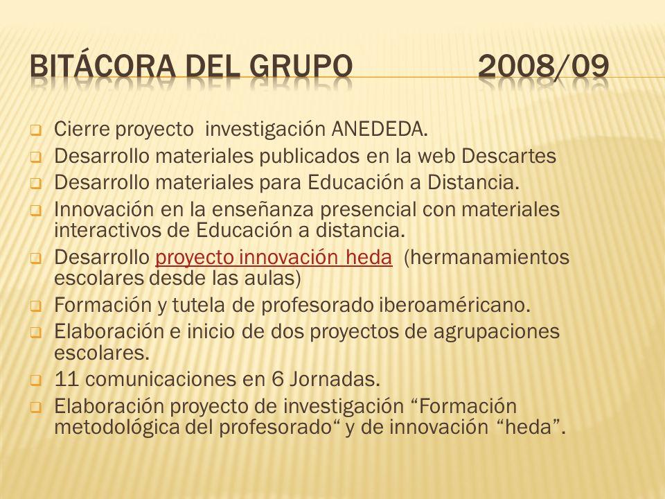 Cierre proyecto investigación ANEDEDA.