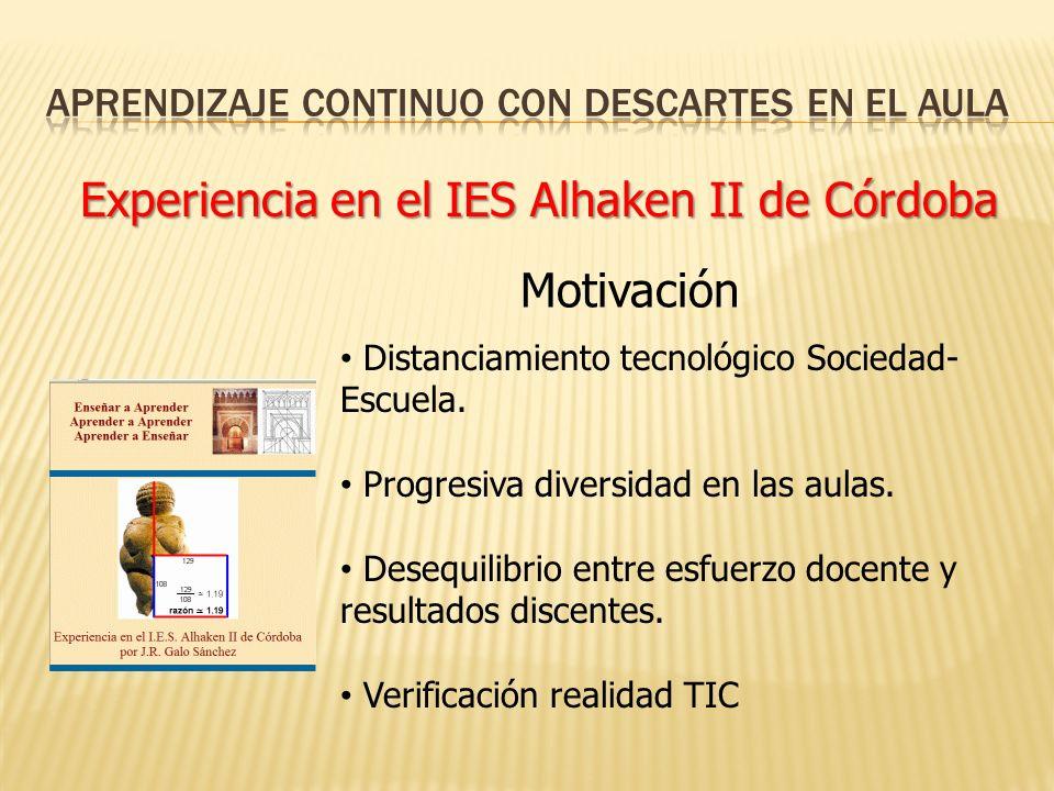 Experiencia en el IES Alhaken II de Córdoba Distanciamiento tecnológico Sociedad- Escuela.