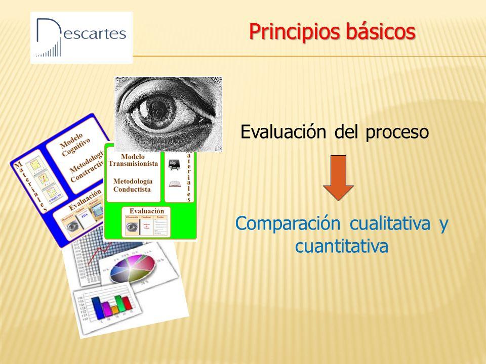 Evaluación del proceso Comparación cualitativa y cuantitativa Principios básicos