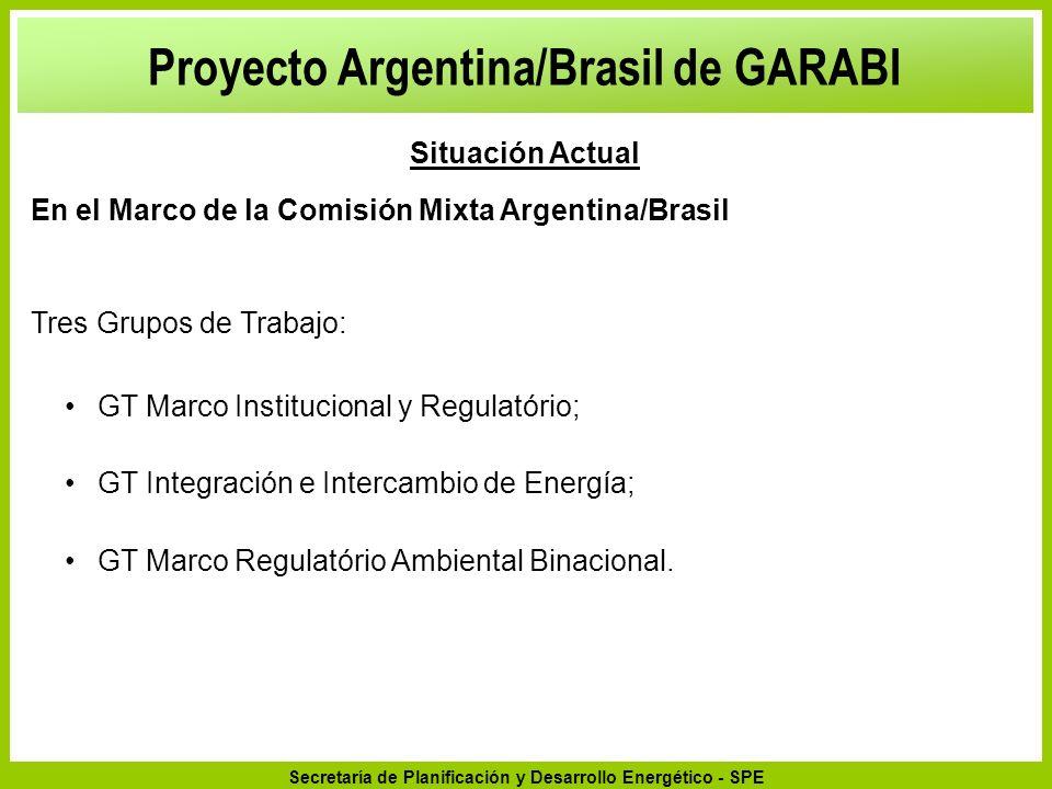 Secretaría de Planificación y Desarrollo Energético - SPE GT Marco Institucional y Regulatório; GT Integración e Intercambio de Energía; GT Marco Regu
