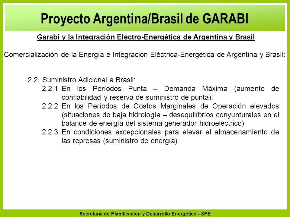 Secretaría de Planificación y Desarrollo Energético - SPE 2.2Suministro Adicional a Brasil: 2.2.1En los Períodos Punta – Demanda Máxima (aumento de co