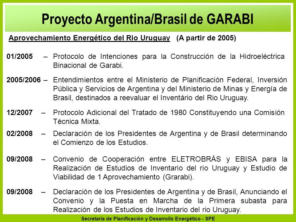 Secretaría de Planificación y Desarrollo Energético - SPE 09/2008 –Declaración de los Presidentes de Argentina y de Brasil, Anunciando el Convenio y l