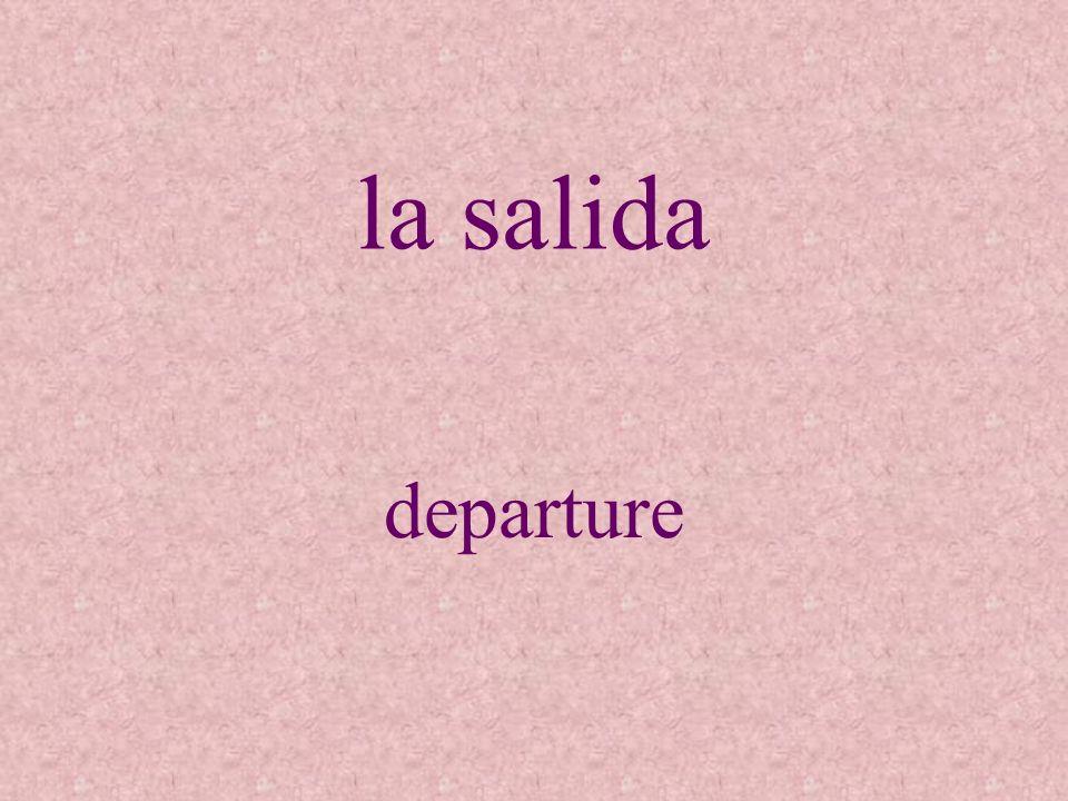 la salida departure